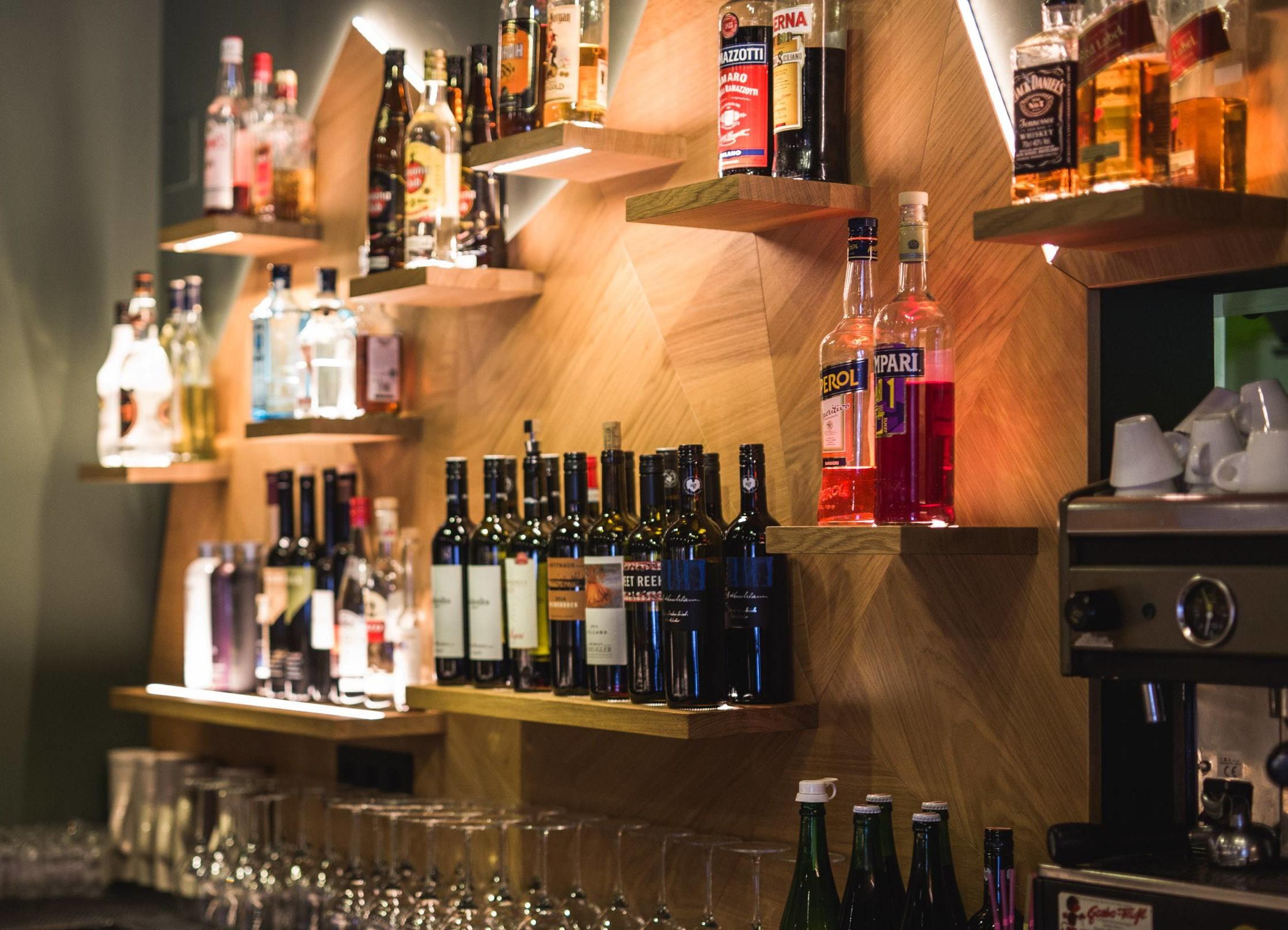 Detailansicht der Bar im Gasthaus in Ebenau, Salzburg Umgebung